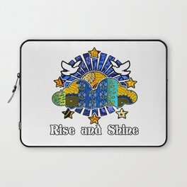 Rise and Shine Birds Sunshine Clouds Laptop Sleeve