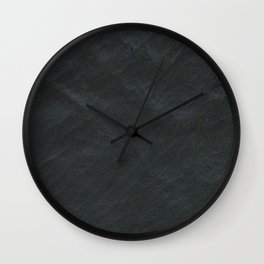 Leather black Wall Clock