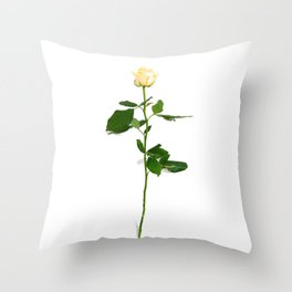 Yellow Rose (Color) Throw Pillow