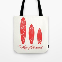 Surfboards - Merry Christmas  Tote Bag