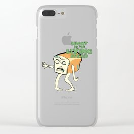 Night of the Living Bread Clear iPhone Case
