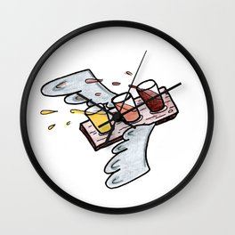 Beer Flight Wall Clock