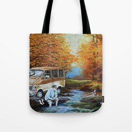 Living in a Van Down by the River Tote Bag