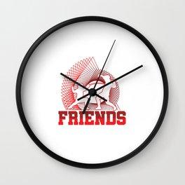 Fencing Make New Friends Swordsmanship Sword Training Swordsman Gifts Wall Clock