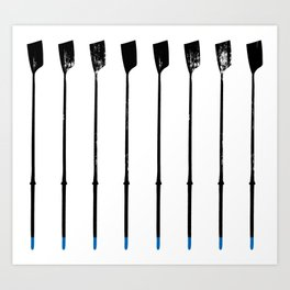 Rowing Oars 1 Art Print