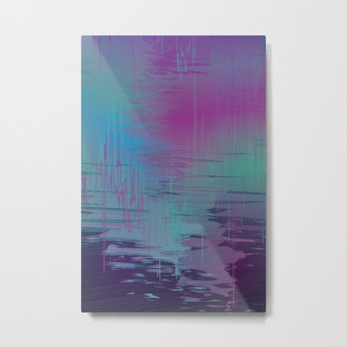 Purple Rainstorm Metal Print