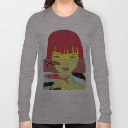 """Redhead Worry"" Paulette Lust's Original, Contemporary, Whimsical, Colorful Art Long Sleeve T-shirt"