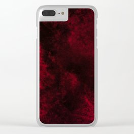 Modern Dark Red Textured Abstract Clear iPhone Case