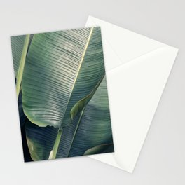 Metallic Green Leaves  Stationery Cards