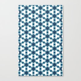 Blue seed of life pattern Canvas Print