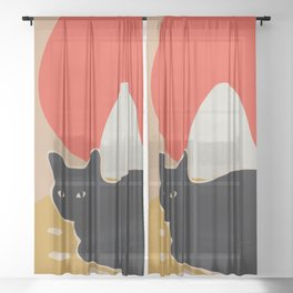 Cat Sheer Curtain
