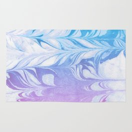 Nanaha - spilled ink abstract painting watercolor water marble marbled cell phone case japanese Rug