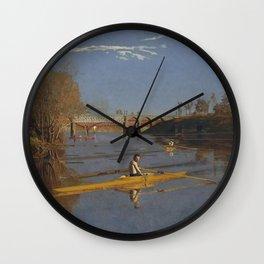 Thomas Eakins - The Champion Single Sculls (Max Schmitt in a Single Scull) Wall Clock