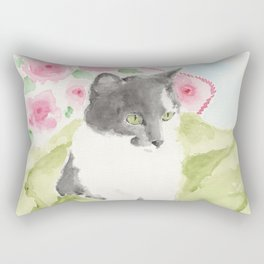 Miss Green Eyes Rectangular Pillow