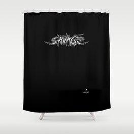 Savage trash Shower Curtain