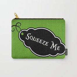 """""""Squeeze Me"""" Alice in Wonderland styled Bottle Tag Design in 'Garden Green' Carry-All Pouch"""