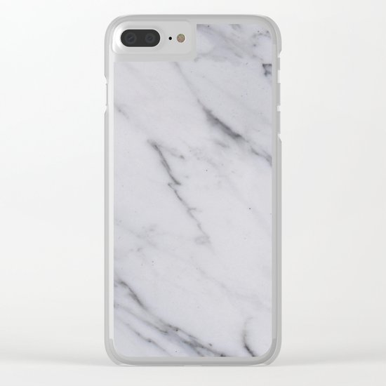 Classic Marble Clear iPhone Case