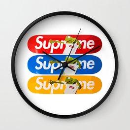 Supreme Kermit Skate Decks Wall Clock