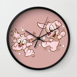 Luna & Lolli Pink - Swimming Wall Clock