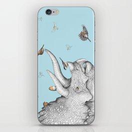 Triceratops and Birdies iPhone Skin