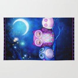 Night Owls & Fairy Lanterns Rug