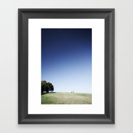 man & dog Framed Art Print