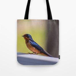 Shiny Swallow Tote Bag