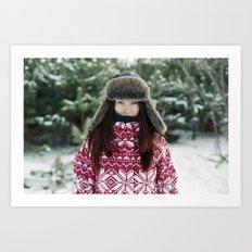 goodbye winter Art Print