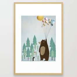 the astrology bear Framed Art Print
