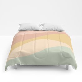 Abstract Color Waves - Neutral Pastel Comforters