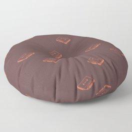 Cassette Pattern- Brown Floor Pillow