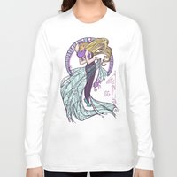 nouveau Long Sleeve T-shirts featuring Spider Nouveau by Karen Hallion Illustrations