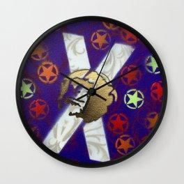 Monky Cross Bones Wall Clock