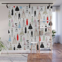 Audrey Fashion Whimsical Layout Wall Mural