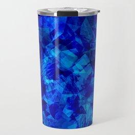 Cobalt Facets Travel Mug