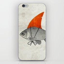 Goldfish with a Shark Fin iPhone Skin