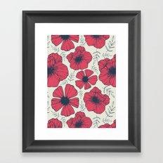 Raspberry Flowers Framed Art Print