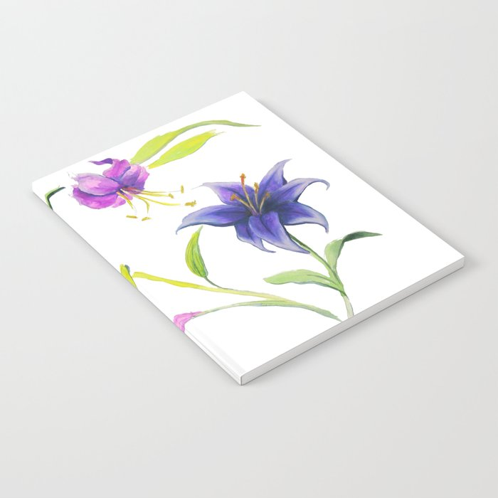 Stargazer Lilies Pink and Violet Notebook