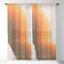 Golden Halfbow Sheer Curtain