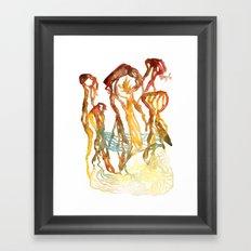 The Giant Mushrooms of Lake Myvatn Framed Art Print