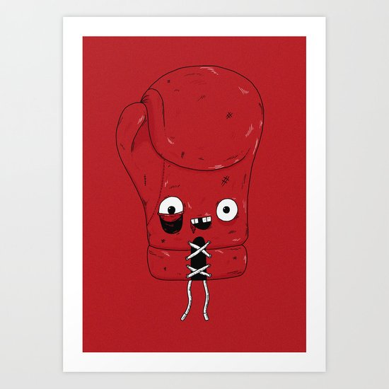 Boxing glove Art Print