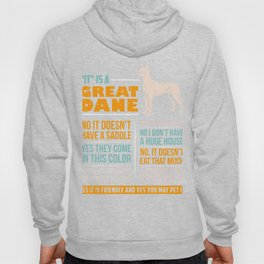 Great Dane Dog Puppy Gift for Dog Lovers & Owners Hoody