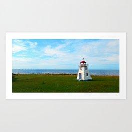 Long Bridge and Tiny Lighthouse Art Print