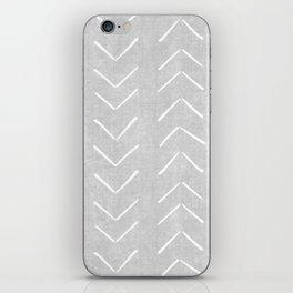 Mudcloth Big Arrows in Grey iPhone Skin