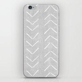 Mudcloth Big Arrows in Grey iPhone Skin