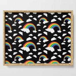 Contrast rainbow Serving Tray