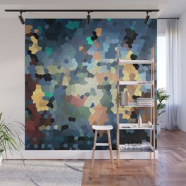 Autumn landscape - abstract mosaic background Wall Mural