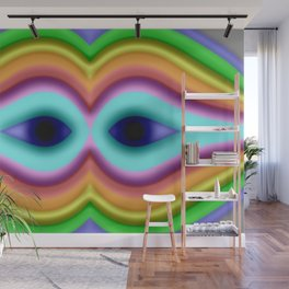 Softly rainbow mask Wall Mural