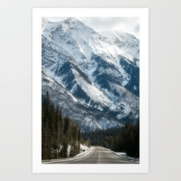 snow capped mountains Art Print