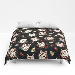Kitsune Mood Masks Comforters